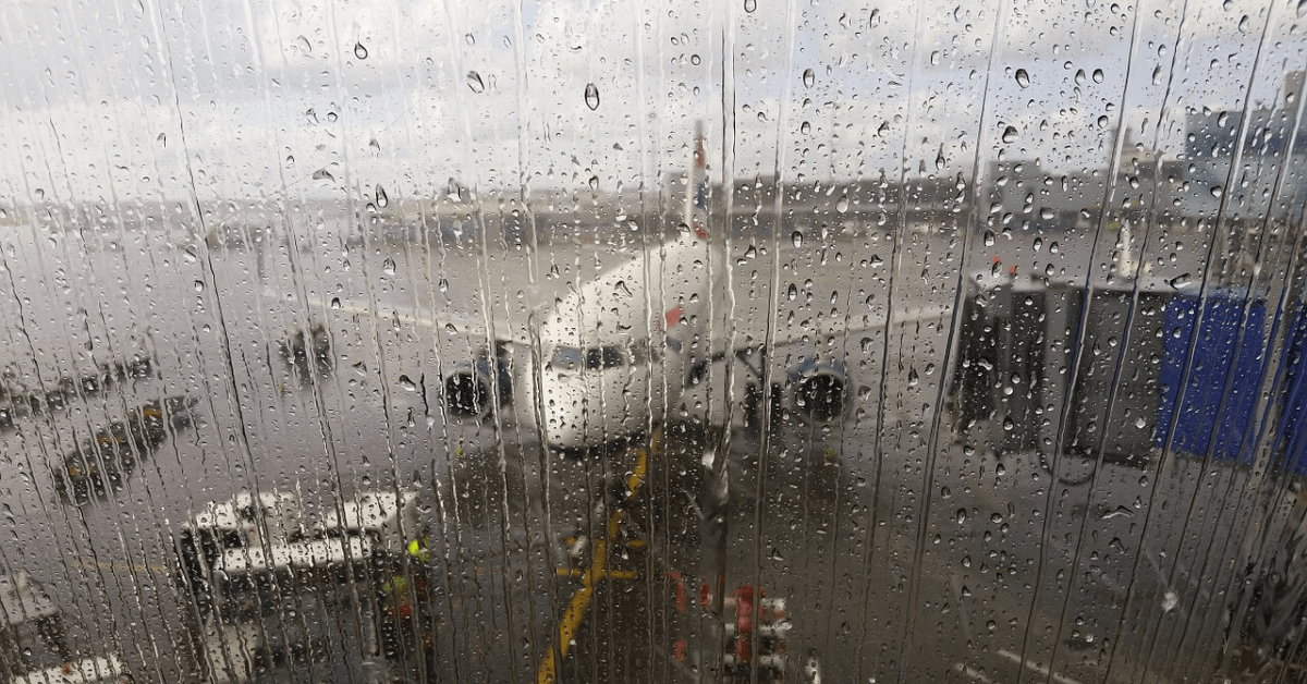 Flight cancelled due to weather